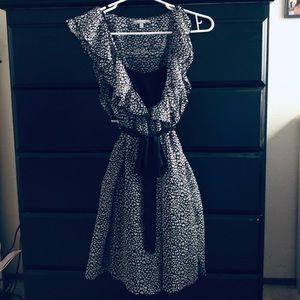 Charlotte Russe Black and Whitr Midi Lengtj Dress